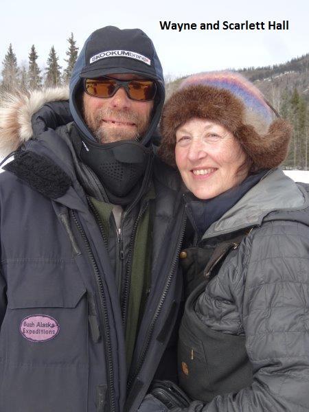 Wayne Hall, Scarlett Hall Dog sledge guides Alaska Yukon