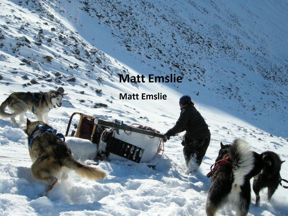 Matt Emslie dog sled guide alaska yukon