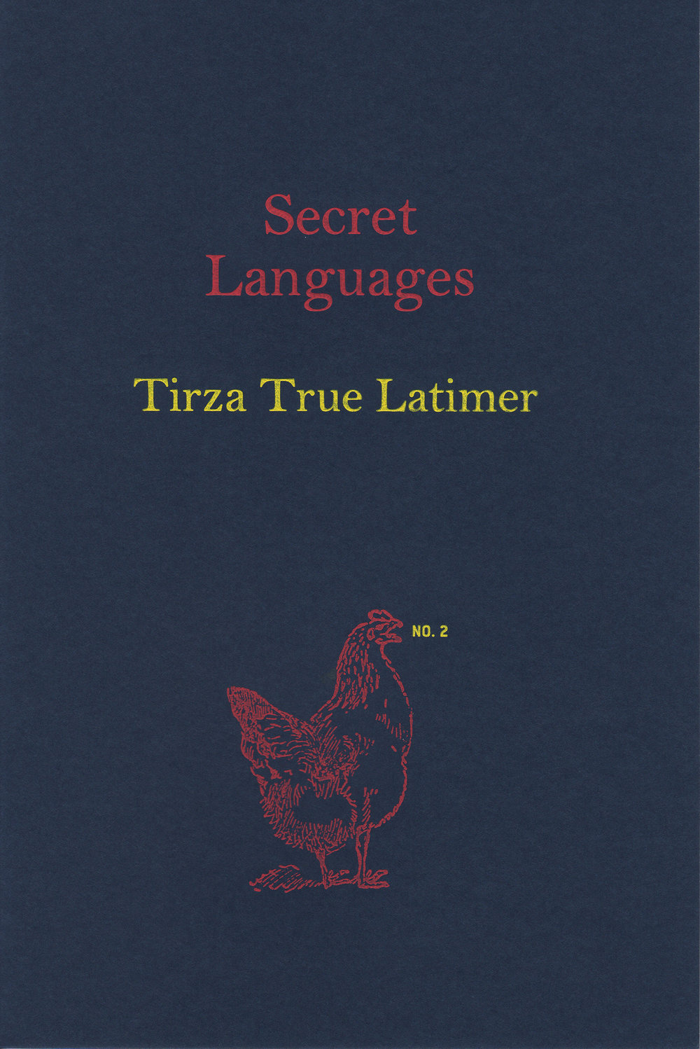 Secret Languages  by Tirza True Latimer, 2012 Offset lithography, engraved cover, 6.75 x 4.5 inches, 20 pages. Edition of 300 Designed by Susan Silton $35