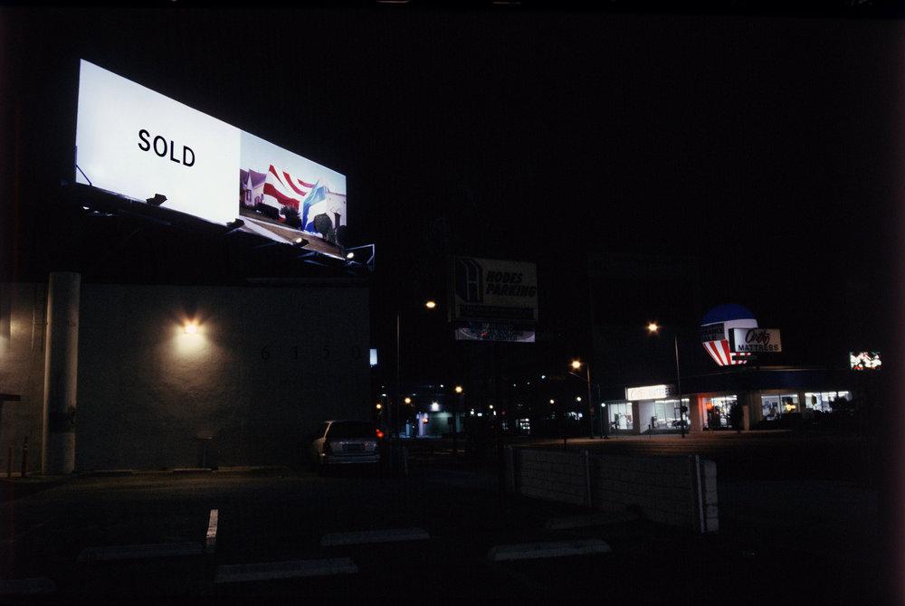 SOLD , 2004; billboard commission by Clockshop.