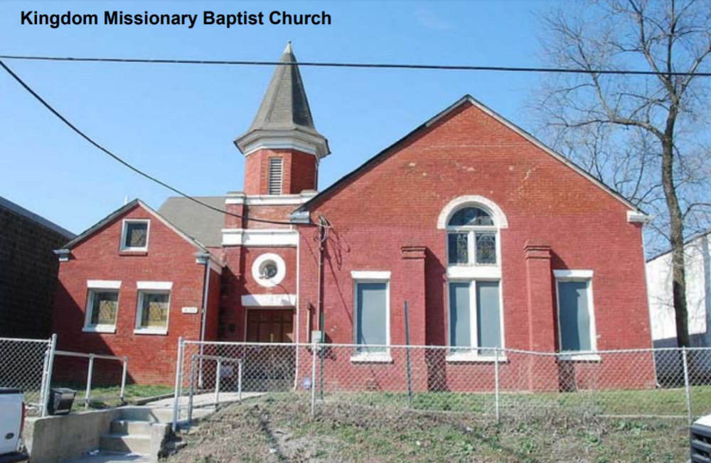 The Kingdom Missionary Baptist Church parishioners must routinely contend with emissions from the EMCo concrete plant—less than 500 feet away. Church organizers must arrive early before mass each Sunday to shovel concrete dust from the church's entrance.