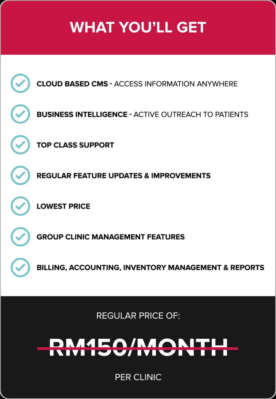 Klinify Pricing 2019