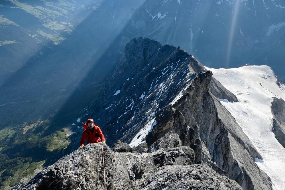 Martin on the Eiger