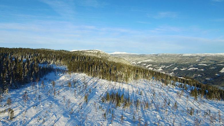 Her skal det bygges, både hytter og leiligheter, på toppen av Skagahøgdi.