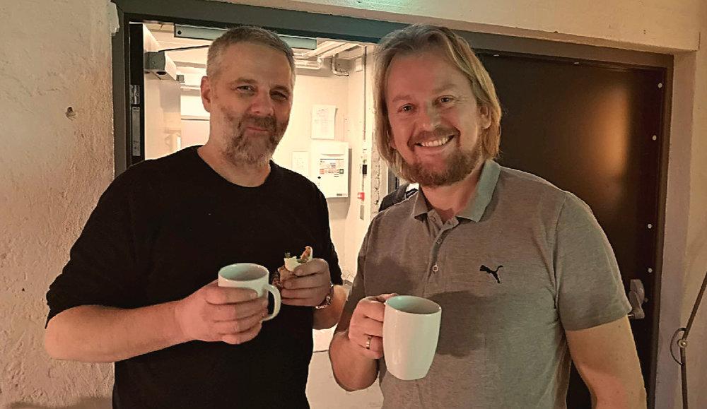Jon Martin fra Gummibaren og Håvard i CXS Growth
