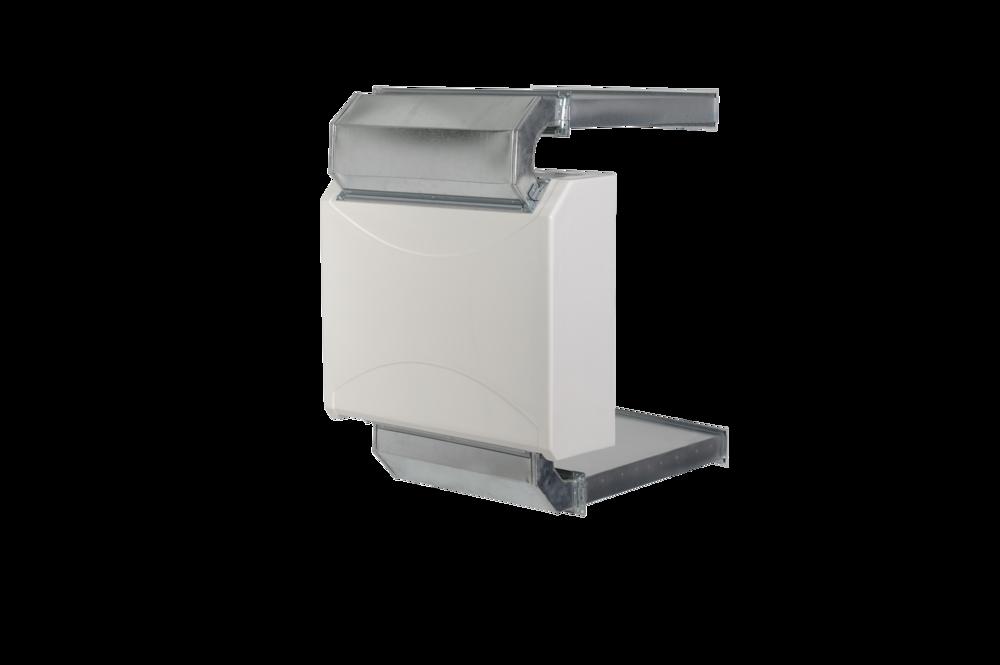 DRY 400 - Bild zeigt Hinterwandgerät, auch als Wandgerät erhältlichfür bis zu 45m² Pooloberflächeerhältlich in Kunststoff, Edelstahl und Metall.