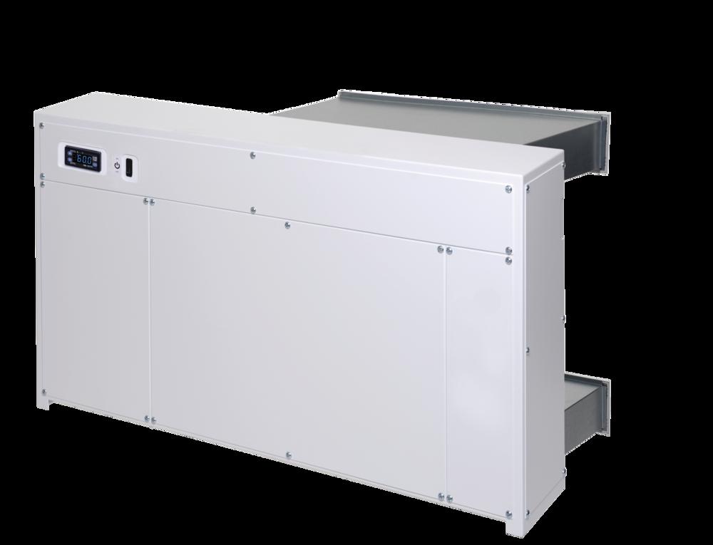 DRY 800 - Bild zeigt Hinterwandgerät, auch als Wandgerät erhältlichfür bis zu 90m² Pooloberflächeerhältlich in Kunststoff