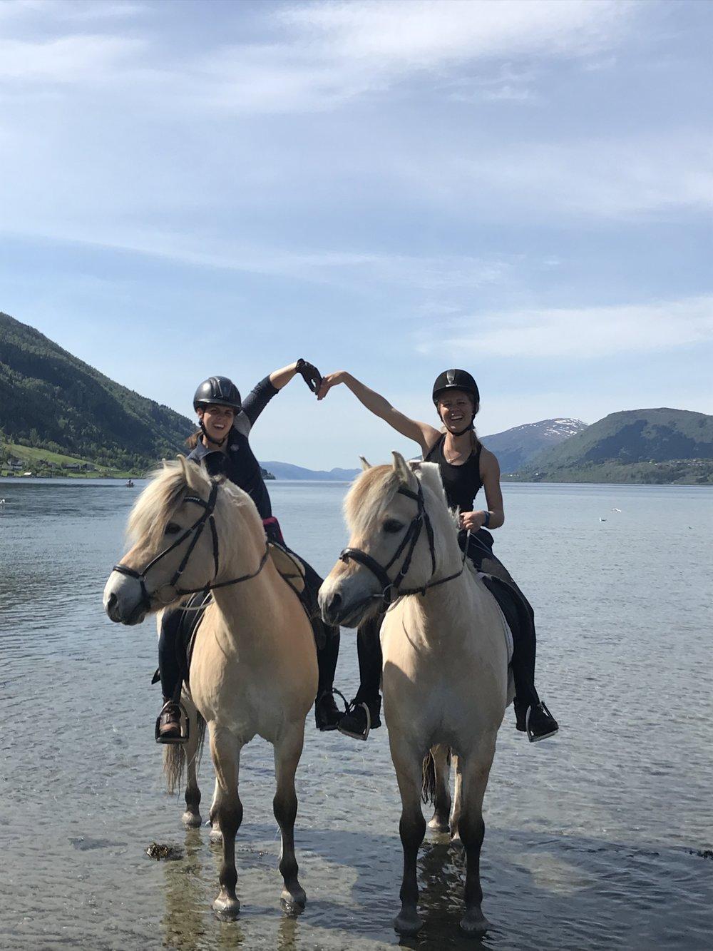 Praktisk informasjon - All linjefagsundervisning går for det meste føre seg på Norsk Fjordhestsenter. Vi nyttar oss også av nærområdet rundt senteret, og vi har ein veldig fin ridesti som er svært populær både blant elevene på skulen og dei lokale rytterane. Når du skal gå 2.året er det et krav om at du må ha med eigen hest. Den kan stå oppstalla på Norsk Fjordhestsenter eller på Stall Os. Vi har ingen krav til hesten anna enn at det er ein fordel at den kan skritte, trave og galoppere, og også gjerne ha litt kjennskap til bommerarbeid og hinder. Vi tilpassar undervisninga etter både deg og hesten sitt nivå.I køyreundervisninga brukar vi skulehestar, men det er også fullt mogleg å bruke eigen hest til dette. Du kan låne vogn og sele av skulen om du manglar dette utstyret. Sjølv om du har eigen hest, er du som elev ved skulen vår, forplikta til å følge reglar som omhandlar sikkerheit og sikkerheitsutstyr. Les meir om våre sikkerheitsrutiner på hestelinjene her.