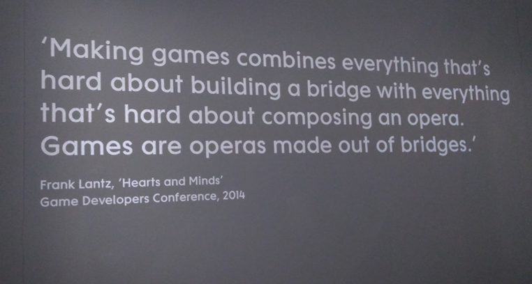 Figure 1: quote on entry to Design/Play/Disrupt signalling the theme of the exhibit.