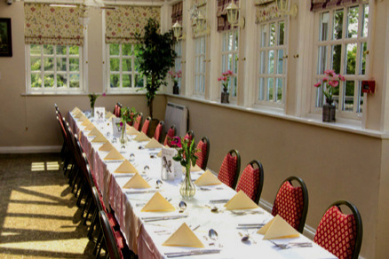 Our conservatory is perfect for a summer celebration, seating up to 40 people