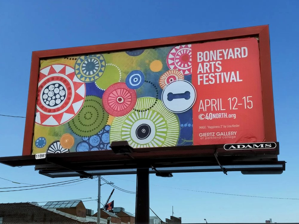Boneyard Arts Festival Billboard