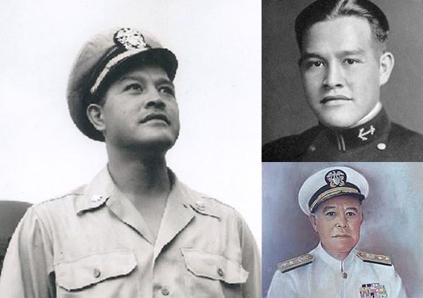Gordon Pai'ea Chung-Hoon  was of Chinese-English-Hawaiian origin and was the first AAPI graduate of the U.S. Naval Academy, Class of 1934. He was the recipient of the Navy Cross and Silver Star for conspicuous gallantry and extraordinary heroism as commanding officer of the USS Sigsbee   from May 1944 to October 1945. During the Korean War, he commanded the USS John W. Thomason.   He retired in October 1959 as a rear admiral, the first AAPI admiral in the U.S. Navy. The Guided Missile Destroyer USS Chung-Hoon was christened in 2003 in his honor. Clearly, Chung-Hoon was a leader and warfighter who established firsts: first AAPI to graduate from the U.S, Naval Academy, be promoted to admiral rank, and have a ship named for him. He also made his mark early on as a halfback and punter on the Navy football team. Upon his retirement, he served as the director of the Hawaiian Department of Agriculture. He died in July 1979.