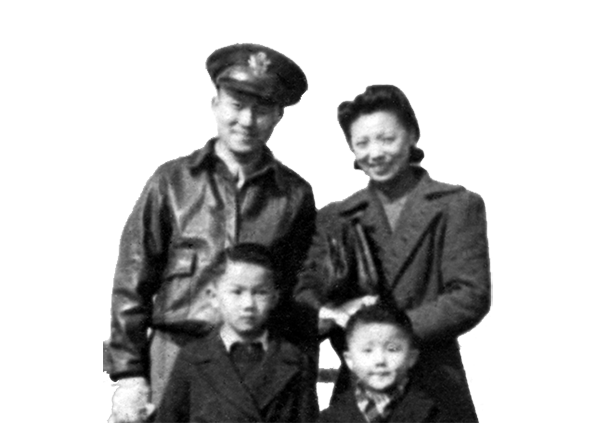 Editor's Note: Chen is shown with his two boys, Bobby (left) and Billy (right). Bill grew up to became the first Chinese American to wear 2-star rank in the U.S. Army.