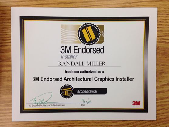 3M endorsed installer, rm wraps, Architectural Finishes Certified Installer