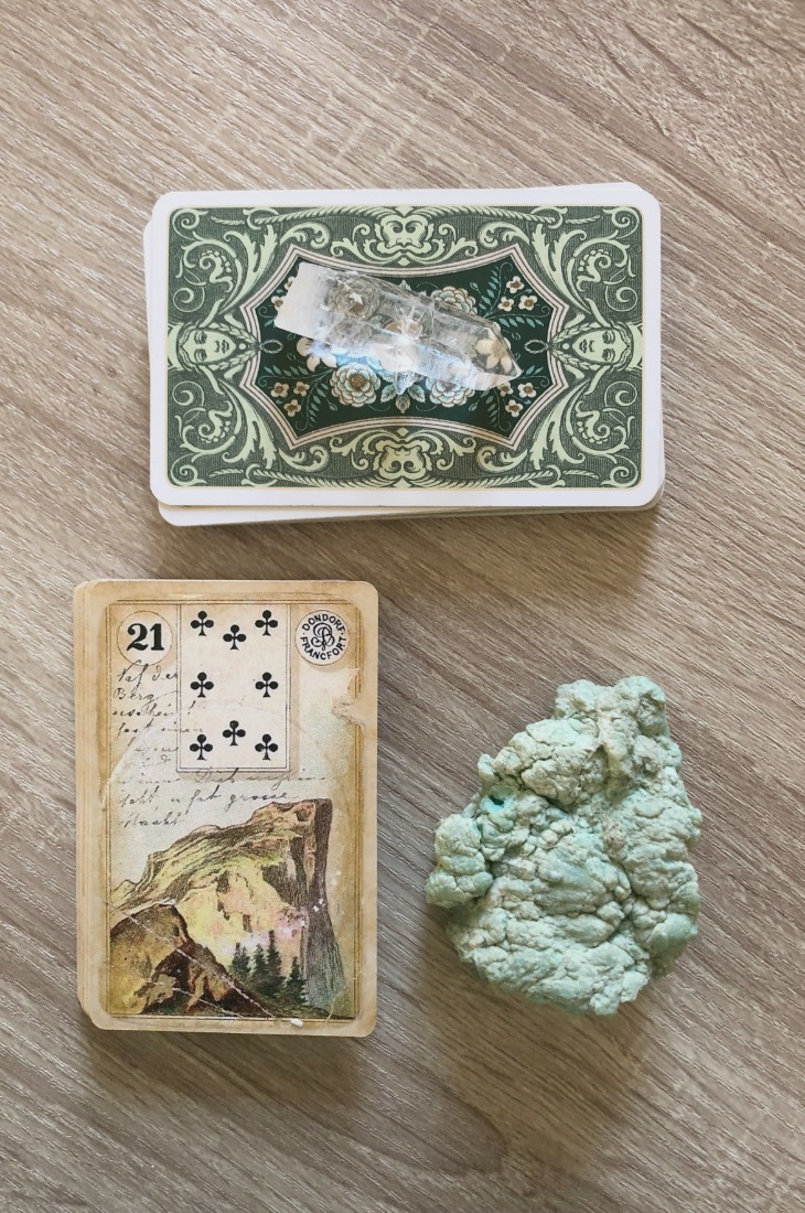Lenormand Mountain card meanings and interpretations. Learn how to read the Lenormand Mountain card for general, love, business, money, health and other types of readings. In Lenormand decks, Mountain is a card which represents long-term problems in relationships.