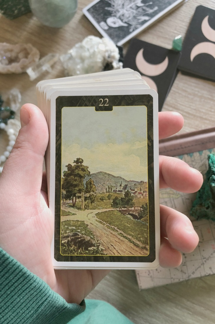 Lenormand Crossroads card meanings and interpretations. Learn how to read the Lenormand Mountain card for general, love, business, money, health and other types of readings. In some decks, Crossroads is called the Ways or Roads card. Crossroads represents choice in relationships.