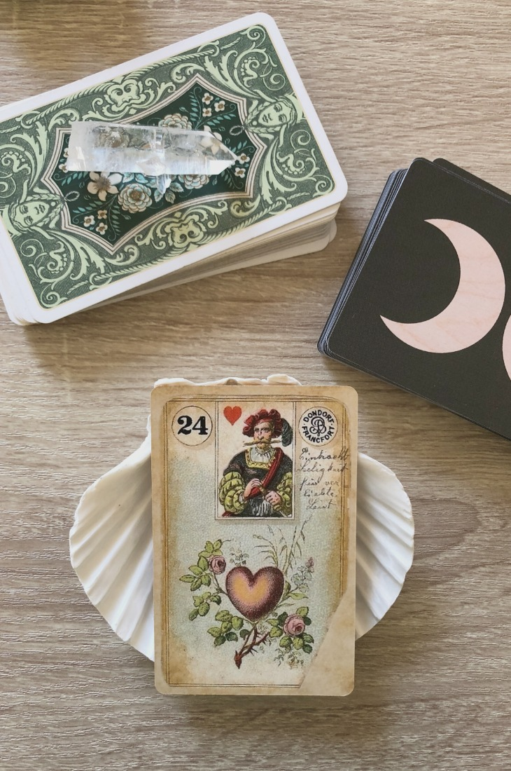 Lenormand Heart card meanings and interpretations. Learn how to read the Lenormand Heart card for general, love, business, money, health and other types of readings. In Lenormand decks, Heart is a card which represents relationships and feelings.