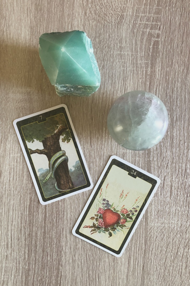 Lenormand Snake card combinations and interpretations. Learn how to combine the Lenormand Snake card for general, love, business, money, health and other types of readings. Here is how to combine Snake with Bouquet, Man, Child and Mice and other cards in your deck.