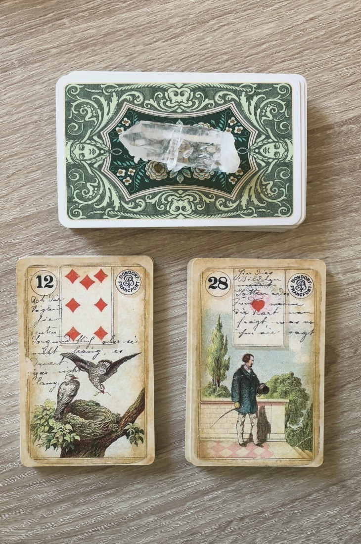 Lenormand Birds card combinations and interpretations. Learn how to combine the Lenormand Birds card for general, love, business, money, health and other types of readings. Here is how to combine Birds with Stork, Bear, Man, Moon and other cards in your deck.