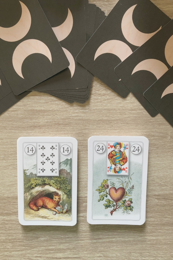 Lenormand Fox card combinations and interpretations. Learn how to combine the Lenormand Fox card for general, love, business, money, health and other types of readings. Here is how to combine Fox with Child, Snake, Lily, Bear and other cards in your deck.