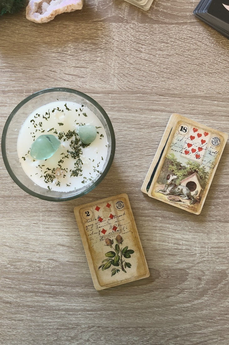 Lenormand Dog card combinations and interpretations. Learn how to combine the Lenormand Dog card for general, love, business, money, health and other types of readings. Here is how to combine Dog with Bear, Stork, Heart, Snake and other cards in your deck.