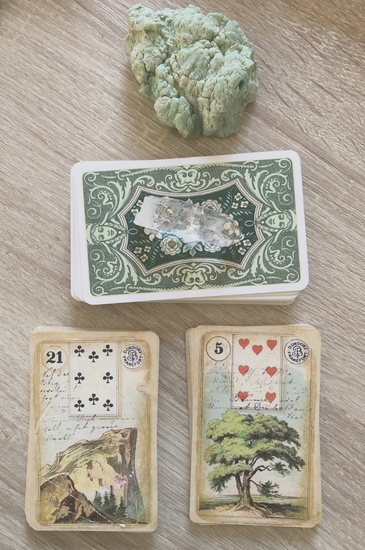 Lenormand Mountain card combinations and interpretations. Learn how to combine the Lenormand Mountain card for general, love, business, money, health and other types of readings. Here is how to combine Mountain with Star, Heart, Letter, Tower and other cards in your deck.