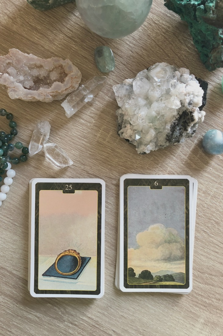 Lenormand Ring card combinations and interpretations. Learn how to combine the Lenormand Ring card for general, love, business, money, health and other types of readings. Here is how to combine Ring with Fox, Rider, Stork, Scythe and other cards in your deck.