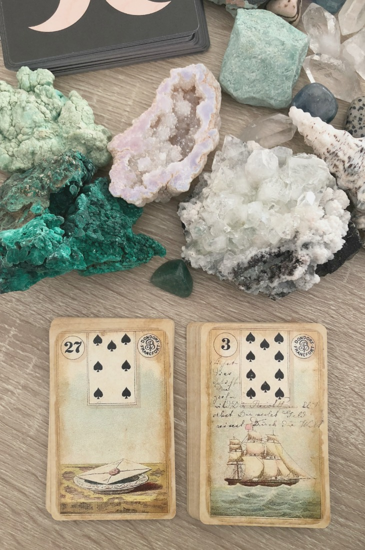 Lenormand Letter card combinations and interpretations. Learn how to combine the Lenormand Letter card for general, love, business, money, health and other types of readings. Here is how to combine Letter with Bear, Tower, Heart, Coffin and other cards in your deck.