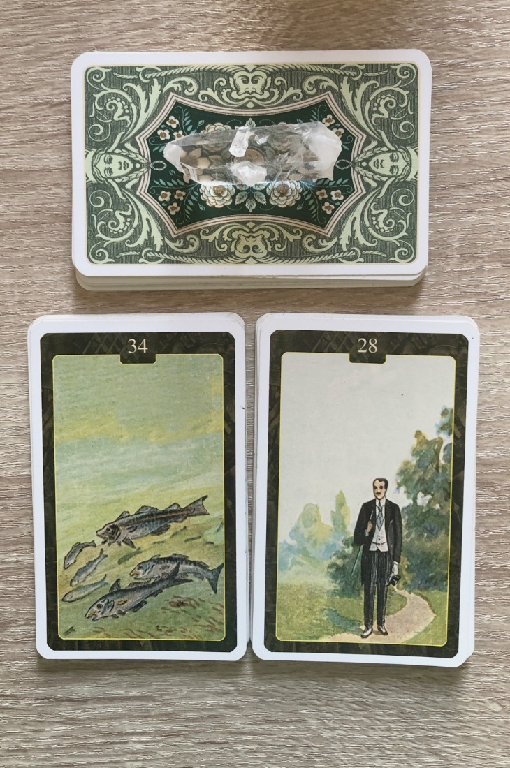 Lenormand Fish card combinations and interpretations. Learn how to combine the Lenormand Fish card for general, love, business, money, health and other types of readings. Here is how to combine Fish with Anchor, Clover, Tower, Moon and other cards in your deck.