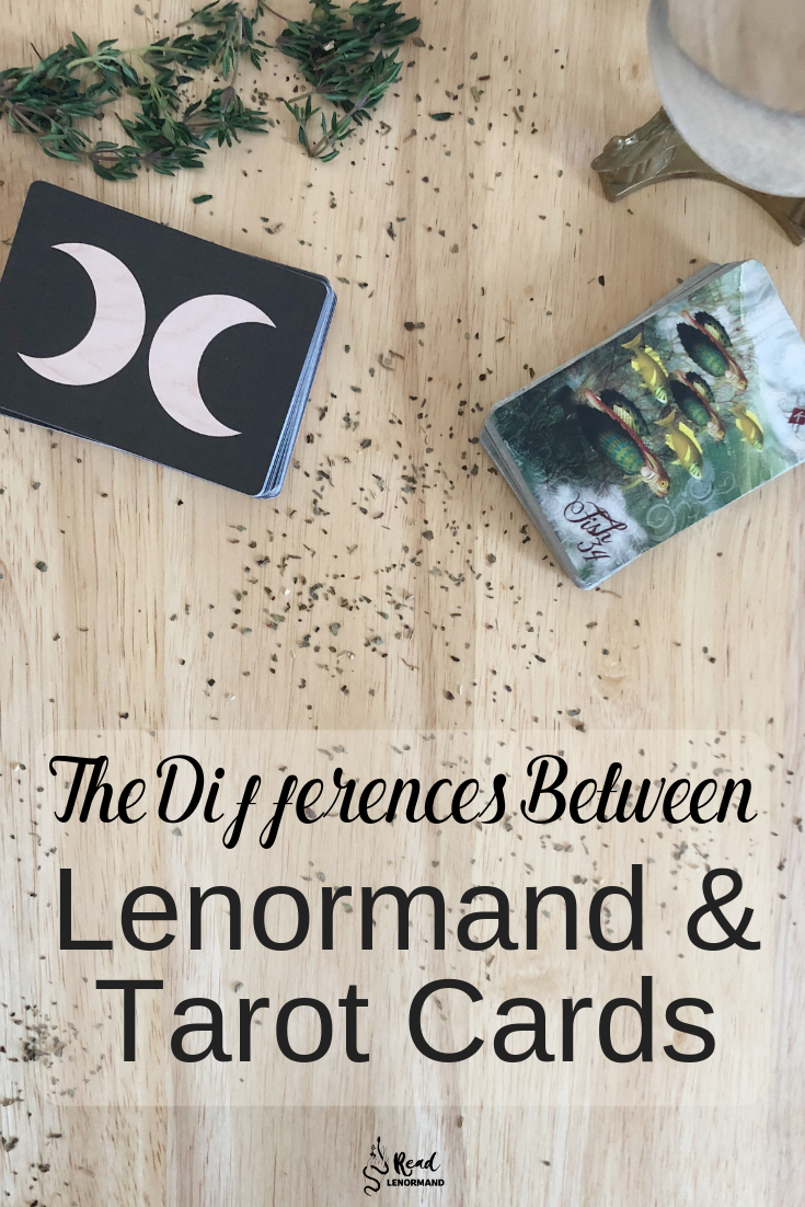 Blog: What are the similarities and differences between Lenormand and Tarot cards? Which cards are there in both Lenormand and Tarot? How are the Tower, Star, Sun, Moon, and significator cards all the same? This article is going to highlight how these Lenormand cards differ from Tarot cards!