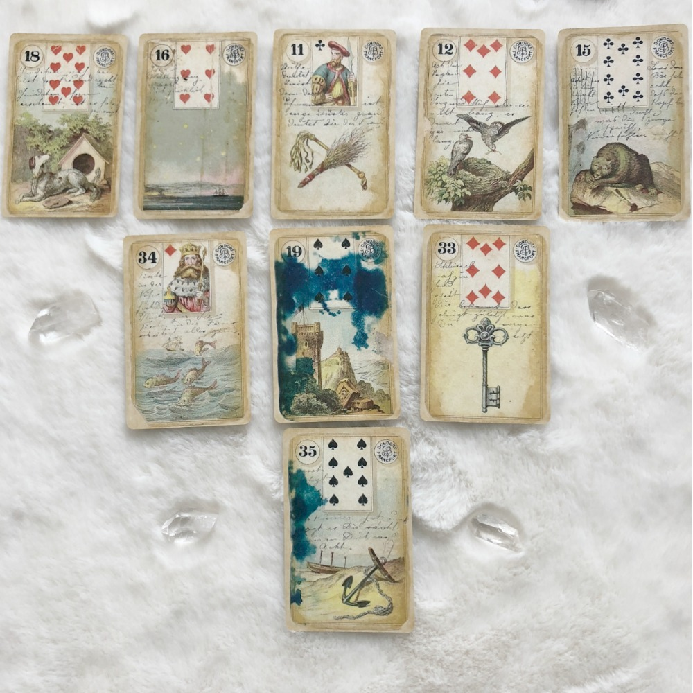The Destroyed Dondorf Lenormand Card Deck