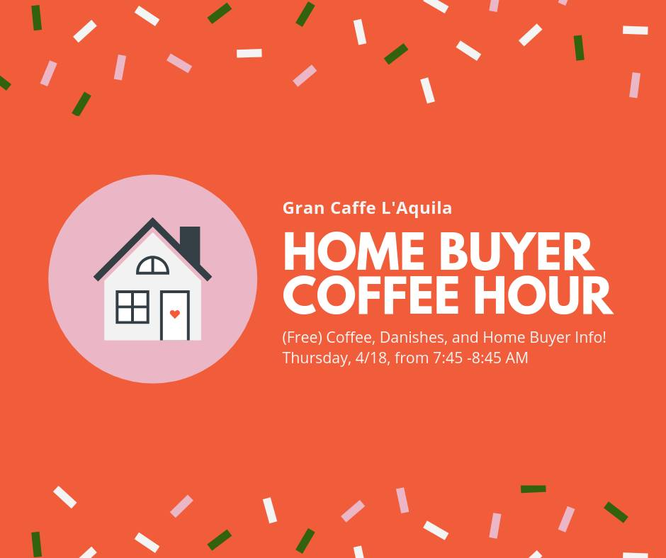 Welcome to this month's home buyer coffee hour. Every month we host a casual coffee and partner with a local lender to bring prospective buyers tools, resources, and place to start!  Join the weekly newsletter  to stay up to date on monthly events.