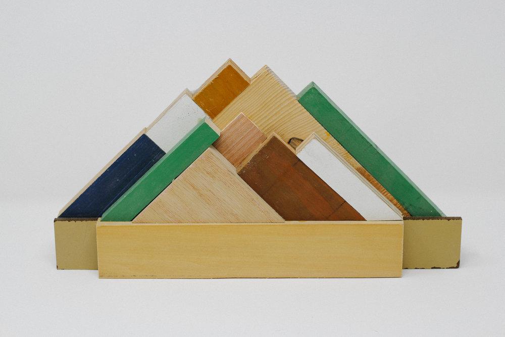 reclaimed wood + glue