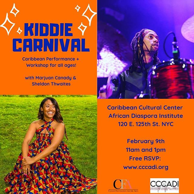 NYC! Join as we celebrate the traditions of Carnival today! 11am & 1pm shows! @cccadi  #artseducation #carnival #steelpan #masquerade #soca #nyckids #family #music #theatre
