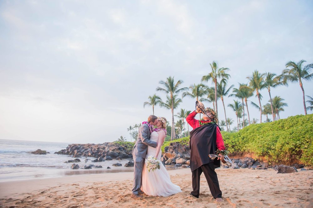 Photo from Heather and Mark's elopement in Maui. Photo credit: Kaitlin Noel Photography.