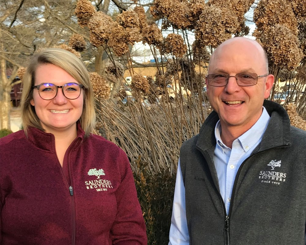 Pictured is the NewGen™ team, Lindsay Day (left) Marketing Coordinator and Bennett Saunders (right) General Manager of Saunders Genetics.