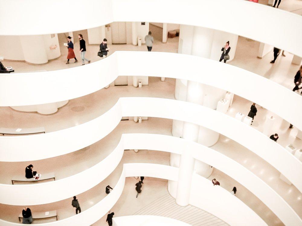 Interior of Solomon R. Guggenheim Museum | Photo Credit: @pergratiamdei