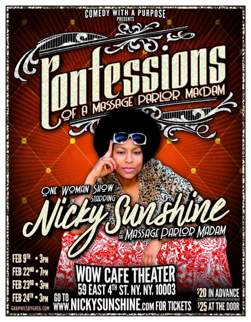 Confessions of a Massage Parlor Madam Event Poster