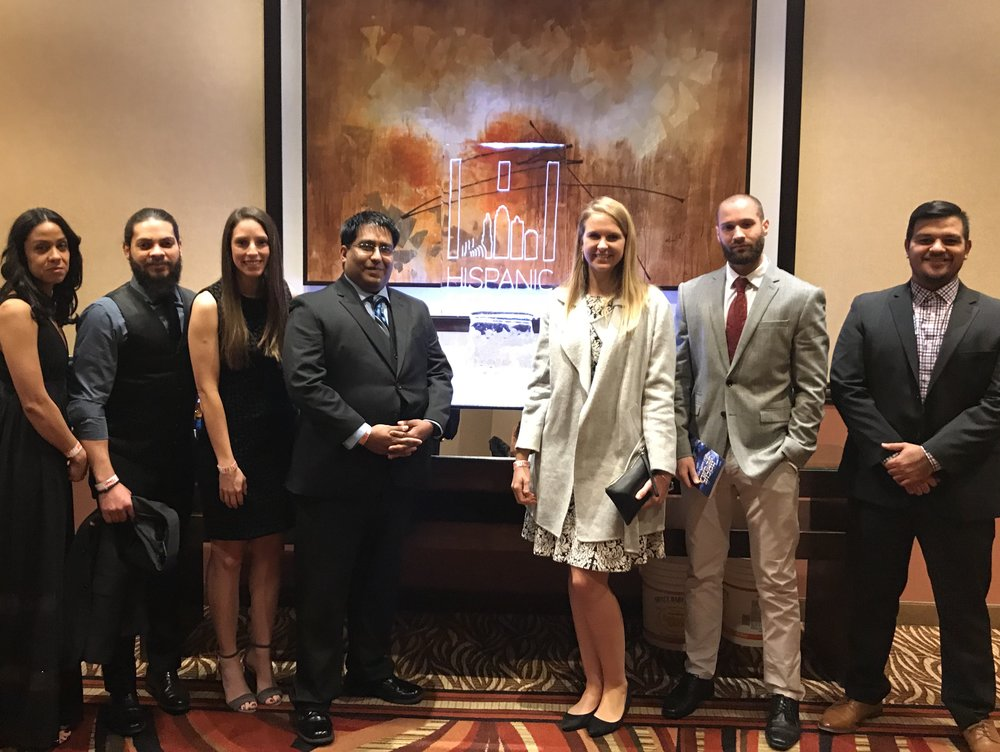 Members of Honeywell's Young Professionals and Hispanic Employee Resource Groups attended the Greater Kansas City Hispanic Chamber of Commerce's Noche de Gala in November 2018.