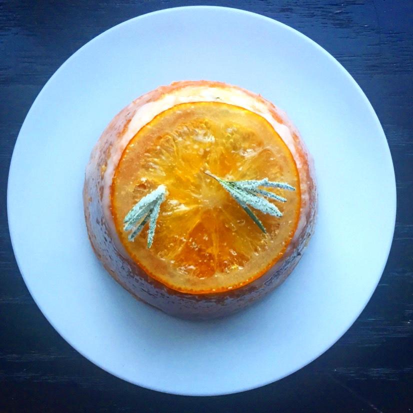 Citrus Rosemary Travel Cake