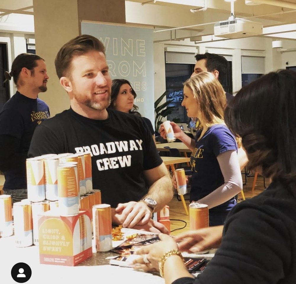 Broadway Crew  hosted a happy hour for our client  The Imbible