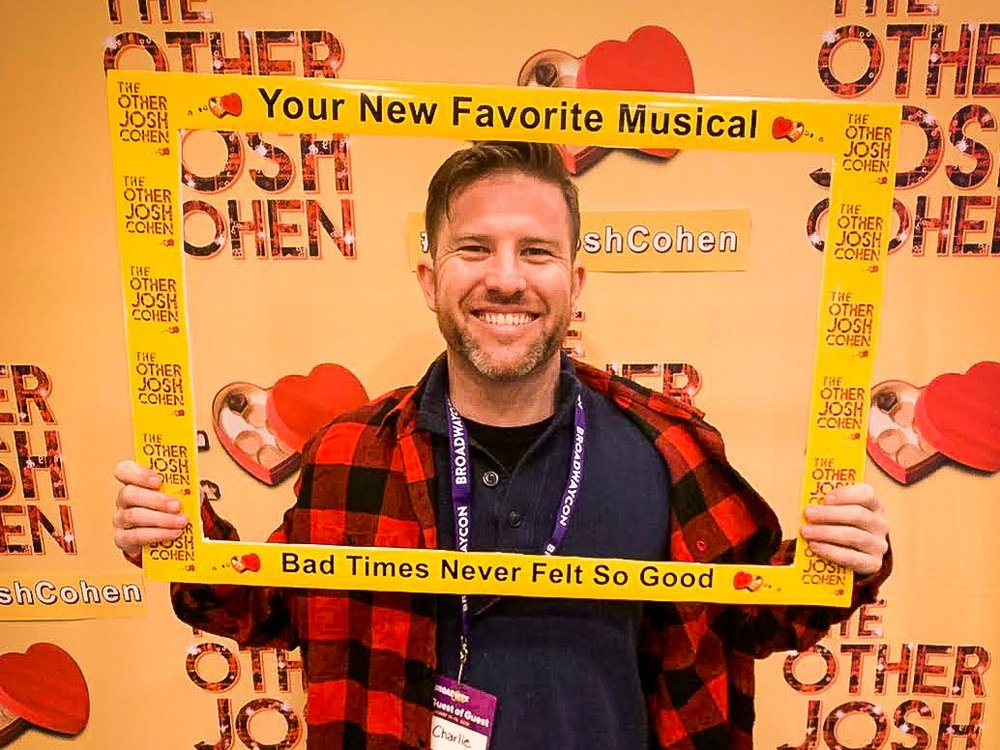 Broadway Crew CEO and co-founder Sam Clark at a special event for off-Broadway client The Other Josh Cohen