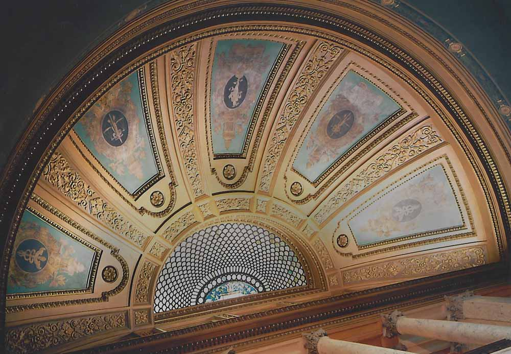 Grand Stair ceiling completed conservation
