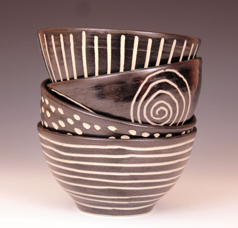 """Medium Bowls"" ceramic, approx. sizes 3 1/2"" x 6 1/2"" $44 each"