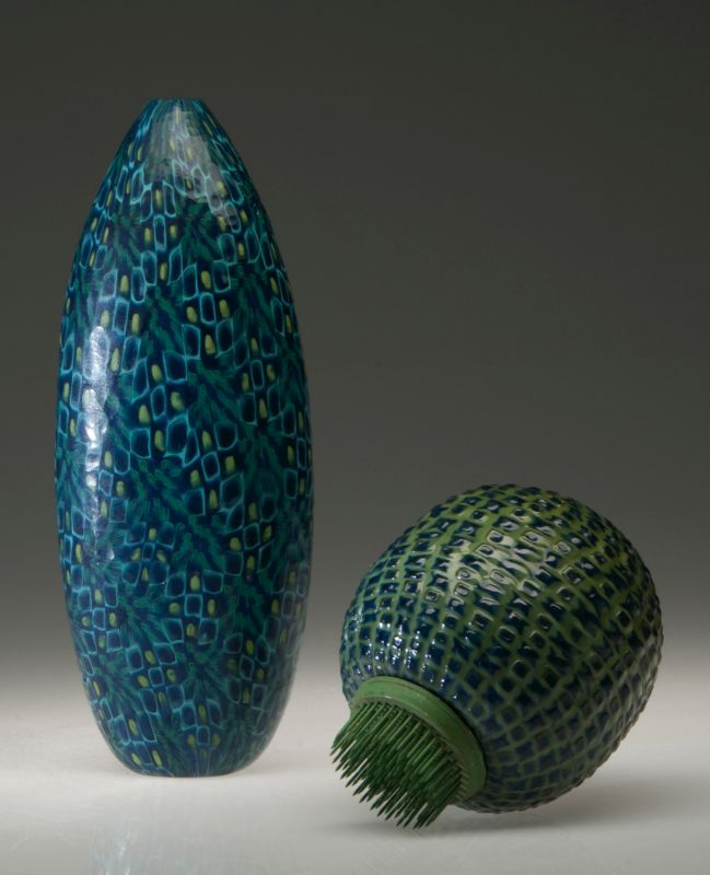 """Pod and Thistle"" blown glass $525 and $795"