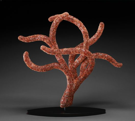 """""""Red Polyp"""" blown glass and murrine 45"""" x 46"""" x 19"""" $55,000"""