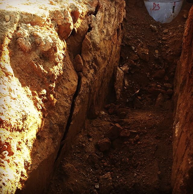 This is one of the reasons we use trench boxes and other safety measures when working beneath the surface. #TrenchSafety #FSR #FSRHomes #Construction #LifeInTheTrenches #DirtMovers