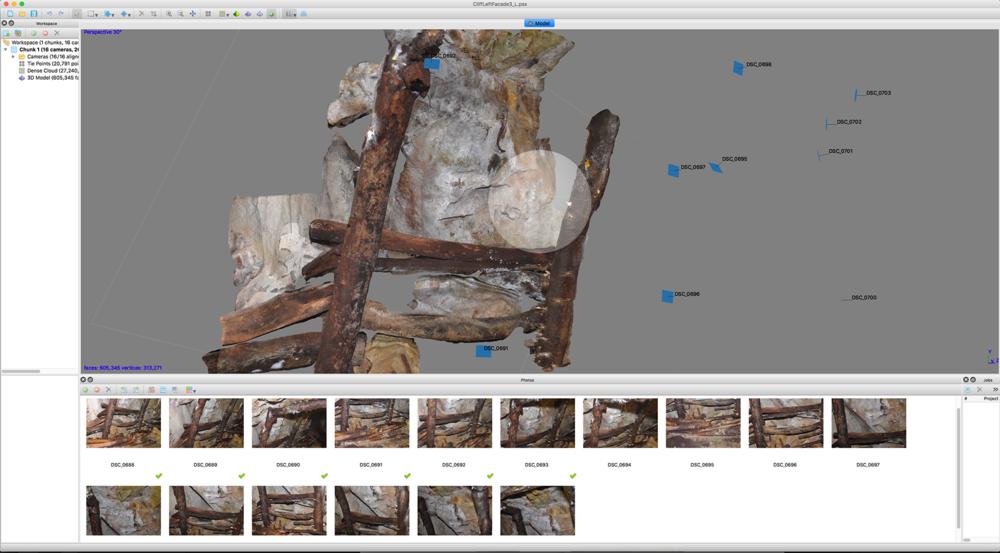建立模型面與貼圖 build mesh and texture