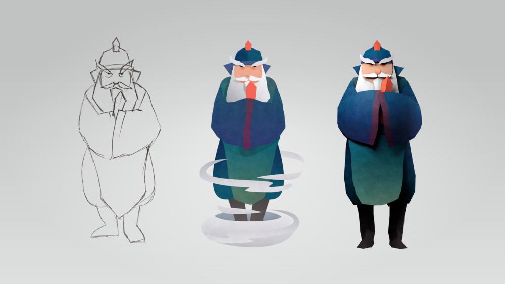 角色從線稿,上色到3D化的過程