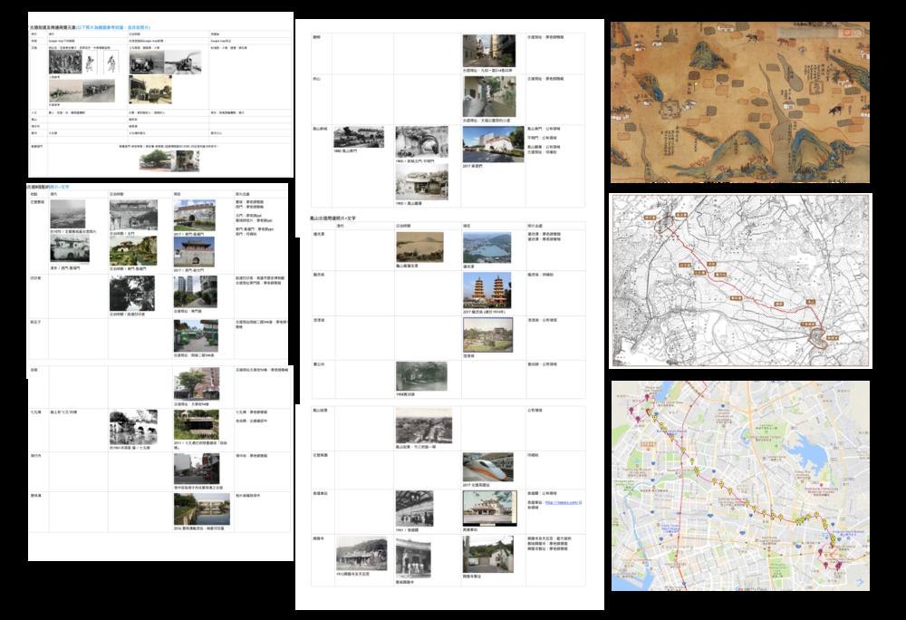 不同時代的古道圖籍資料整理